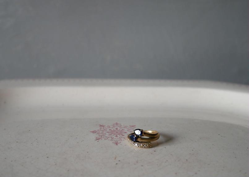 フランスアンティーク リング ブルーの指輪