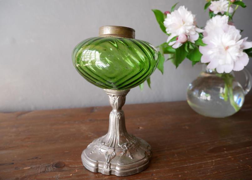 フランスアンティーク ランプ リボンの装飾