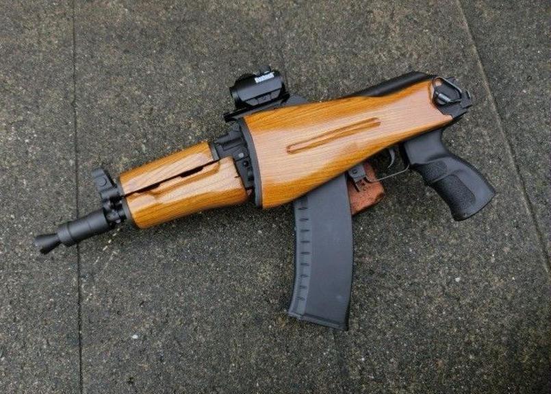 受注 KSC AKS74U用折り畳み式ウッドストック製作