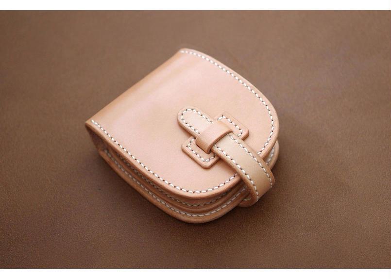 本革ショート財布【フラップ】