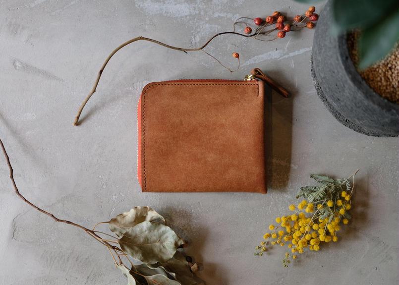 Mini Wallet【 tent 】/ Cognac