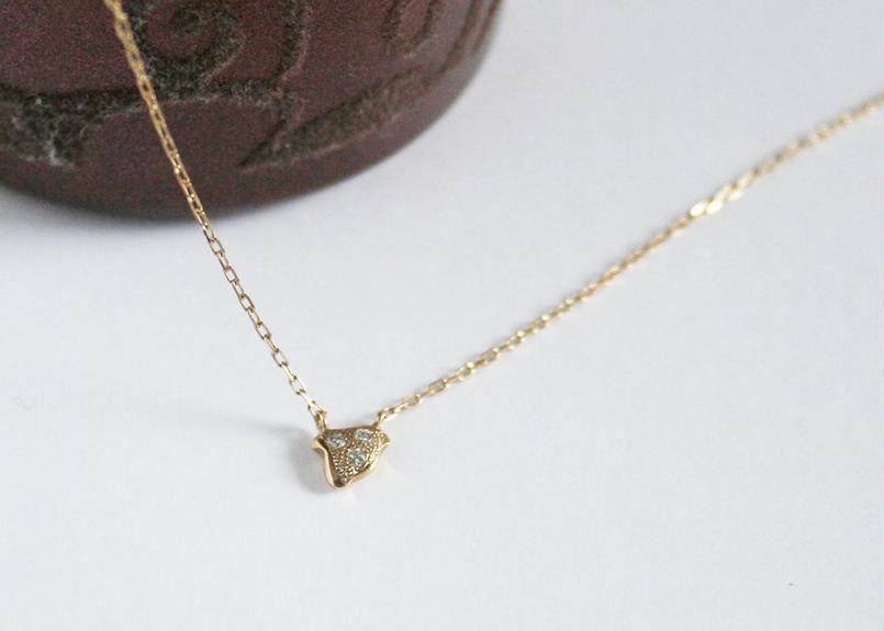 K10/ダイヤネックレス【CHIDORI / 千鳥】WAMON MINI GOLD(NC10044)