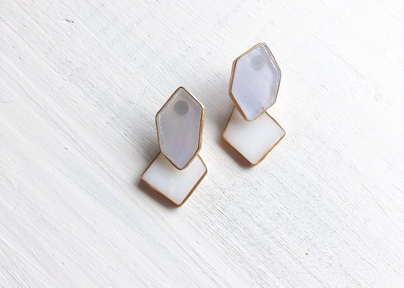 brass jewelry dg /k14gfピアス/真鍮イヤリング