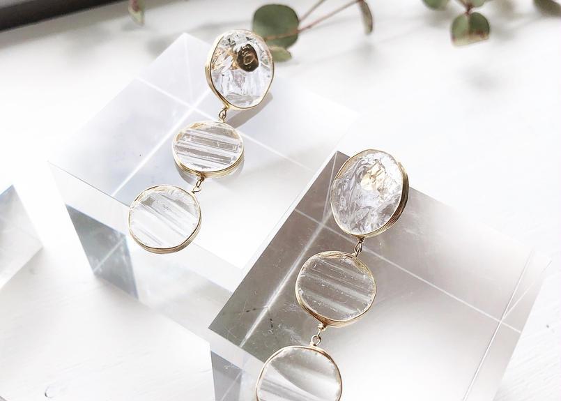 special glass jewelry/k14gfピアス/真鍮イヤリング