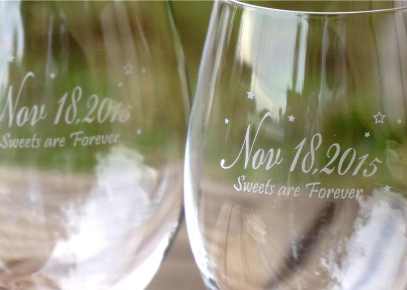 記念日ペアワイングラス