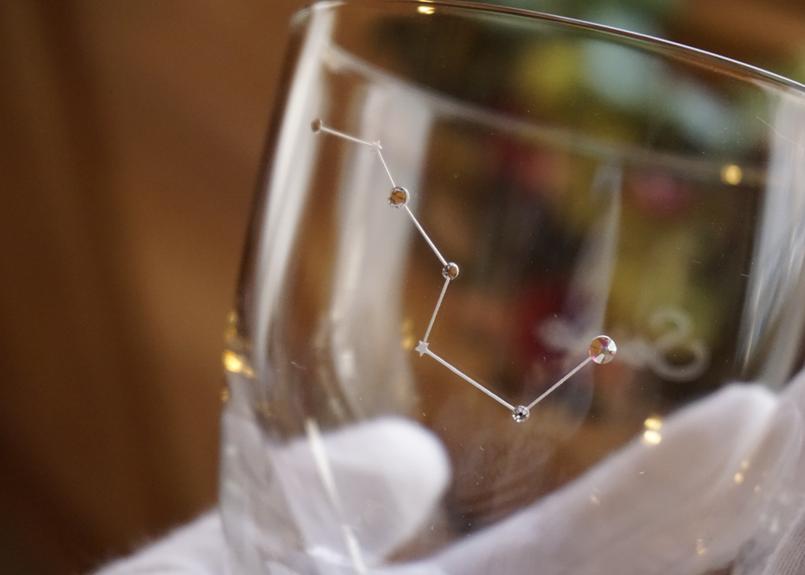北斗七星の名入れグラス