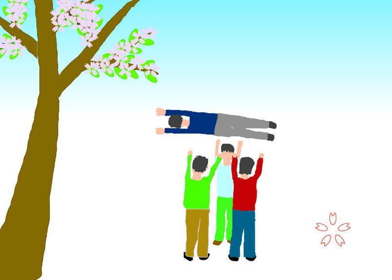 ポスター 春ー合格(A4サイズ・300ppi・jpegデータ)