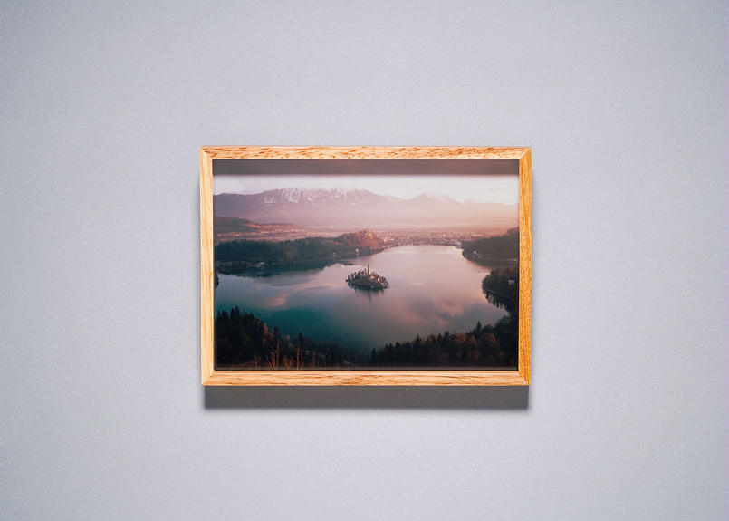 Framed photo by Tabi suru Suzuki No.04 - Lake Bled, Slovenia 旅する鈴木 写真作品(S)