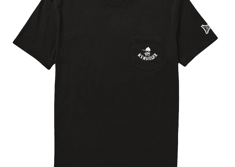 KENHOLIX WHT Label Logo Pocket Tee  -Black-