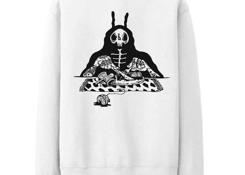 S.O.S. Crewneck Sweatshirt -White-