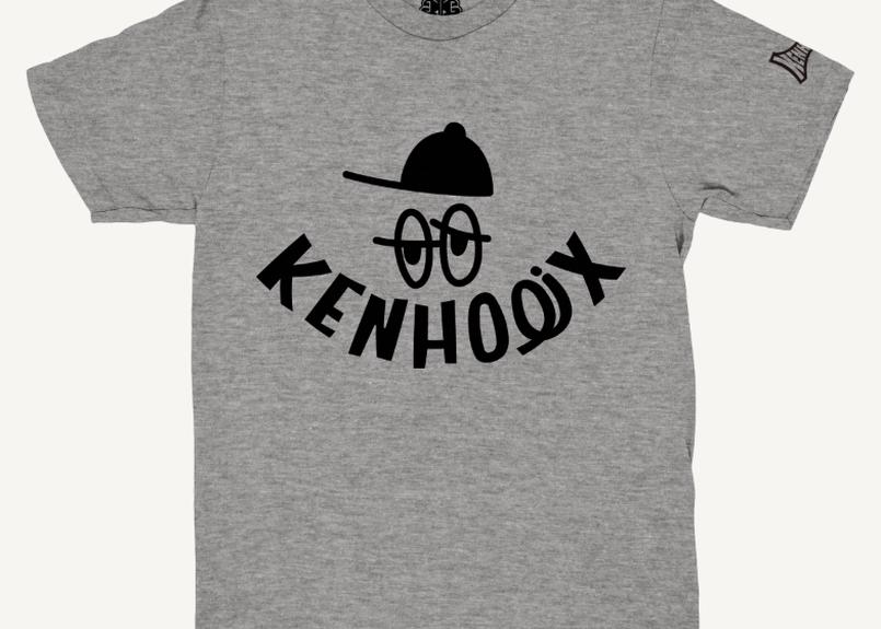 KENHOLIX WHT Label Logo Tee -Gray-