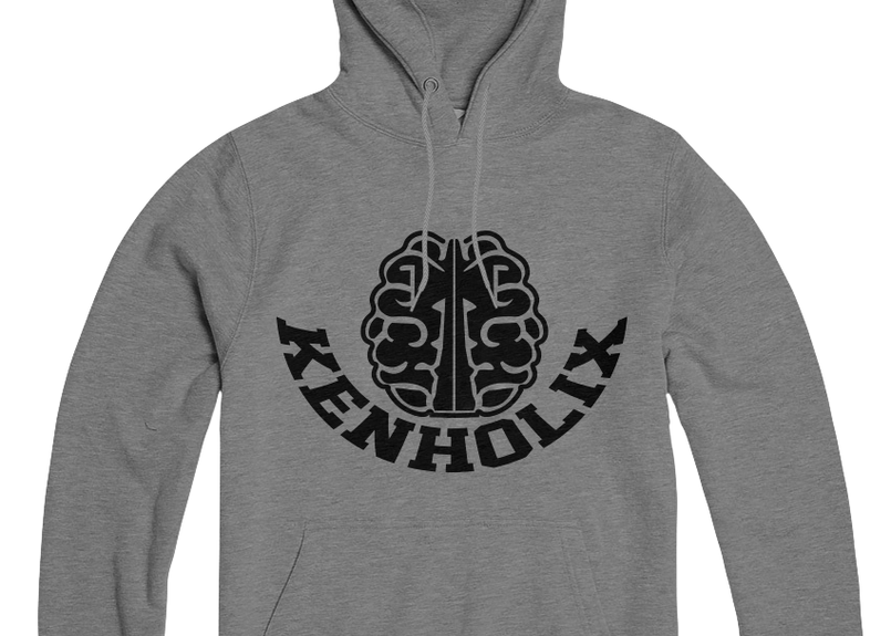 KENHOLIX  Brain Logo Hoodie -Grey-