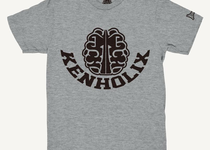 KENHOLIX  Brain Logo Tee -Grey-