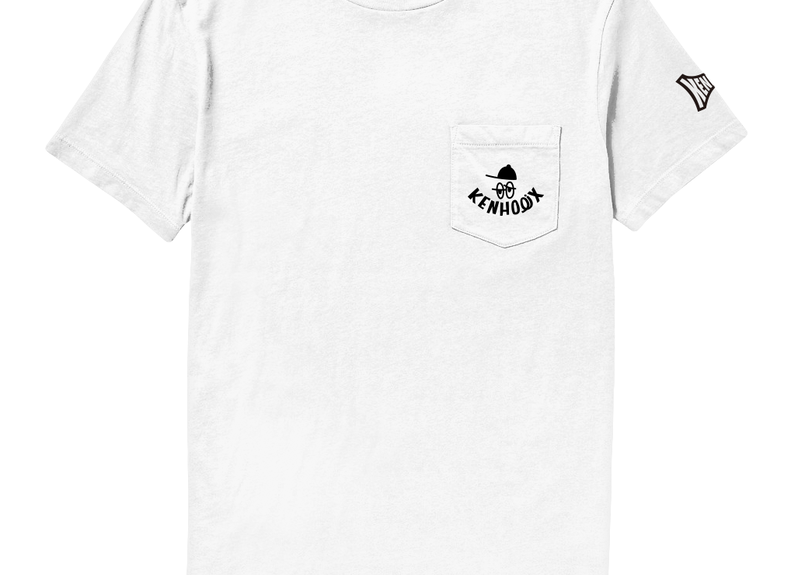 KENHOLIX WHT Label Logo Pocket Tee -White-