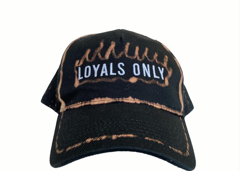 LOYALS ONLY   ( ロイヤルズ オンリー ) Bleached Logo cap 6 ブリーチ ロゴキャップ  6