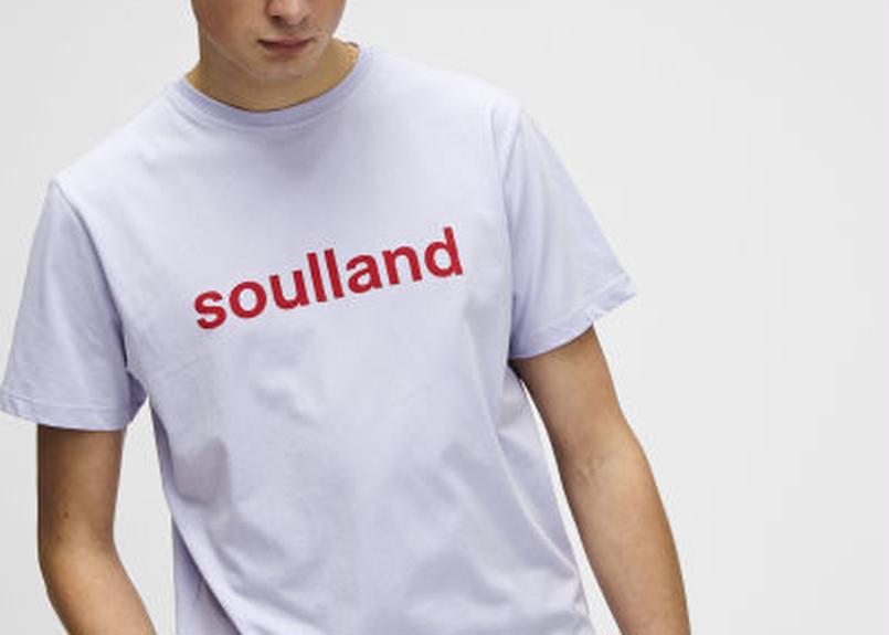 SOULLAND (ソウルランド) LOGIC CHUCK T-SHIRT W.PRINT - VIOLET