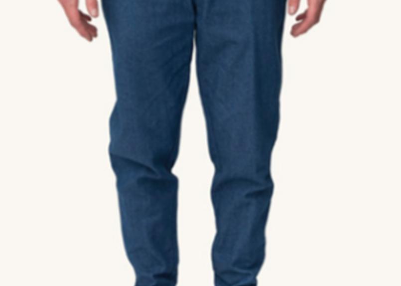 (Pleasant)DENIM CUFF PANTS