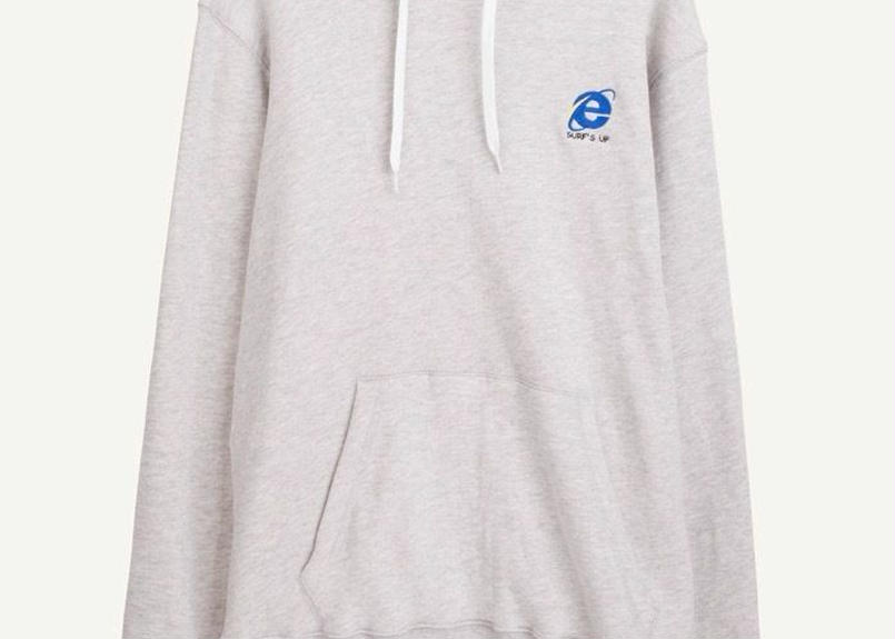 Hoody chest embroidery grey
