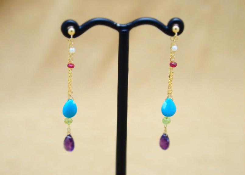 ColorStone Design Earrings