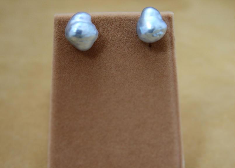 South Sea Pearl Earrings(Silver)