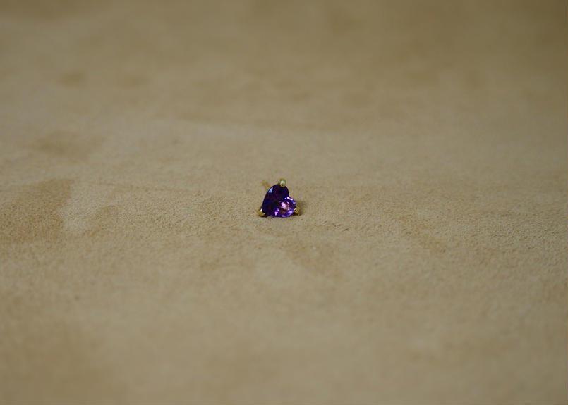 Amethyst Single Earring(h/s)