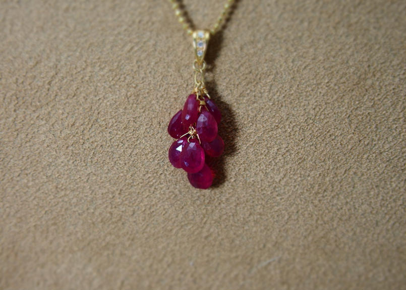 Ruby Prisum Pendant Top(+Diamond)