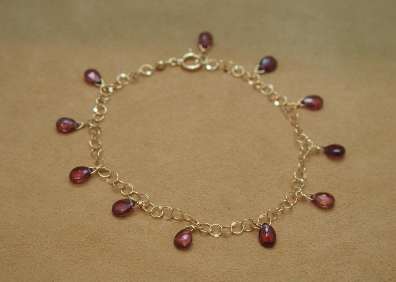 Garnet Chain Bracelet(p/s)