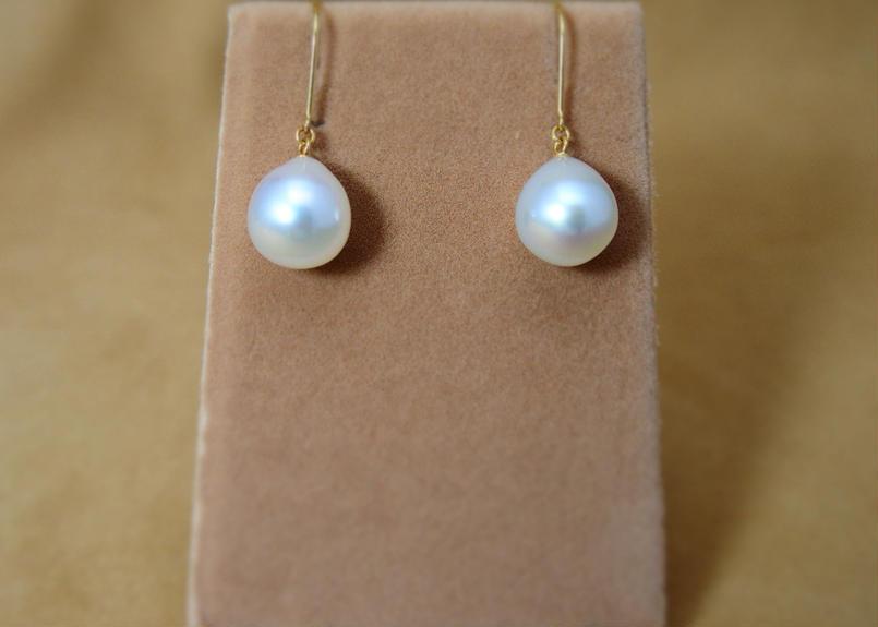 SouthSea Pearl Drop Earrings(White)