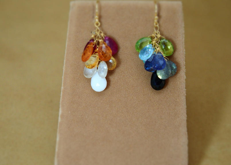 RainbowColor Prism Earrings