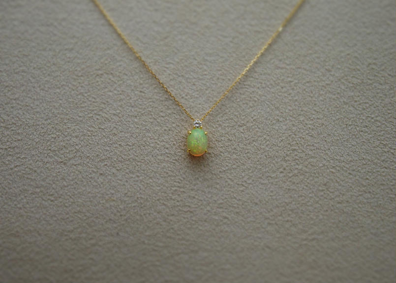 Opal&Diamond Petit Necklace