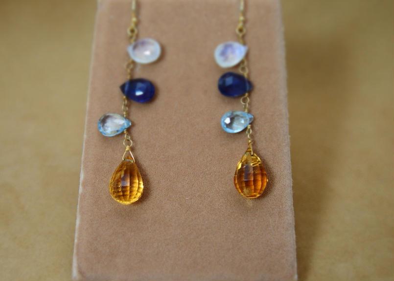 Ctrine&ColorStone Earrings