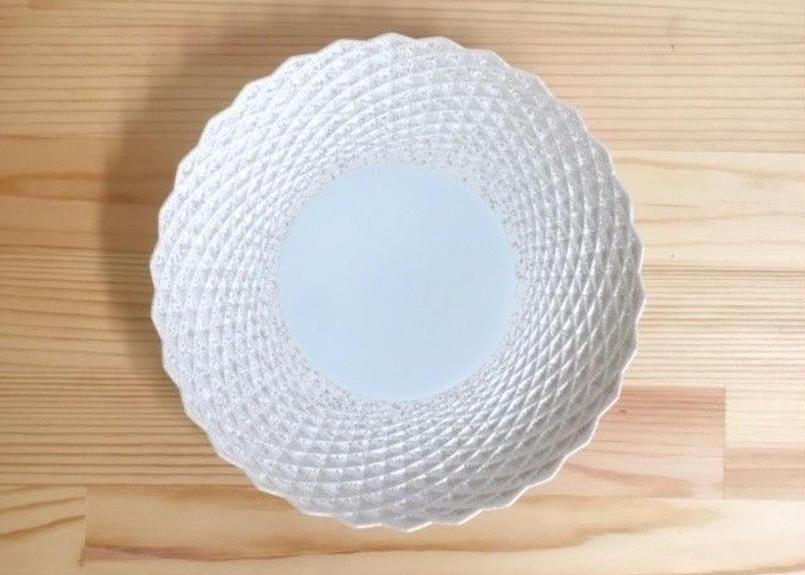 シルバーホワイト6寸皿