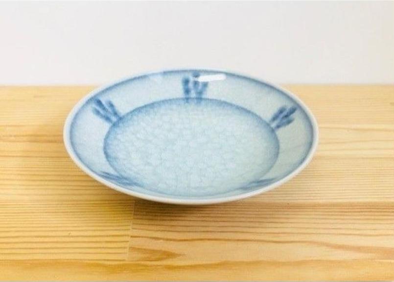 [陶器市] 呉須貫入5寸平鉢