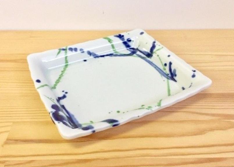 錦しぼり散反波渕焼皿