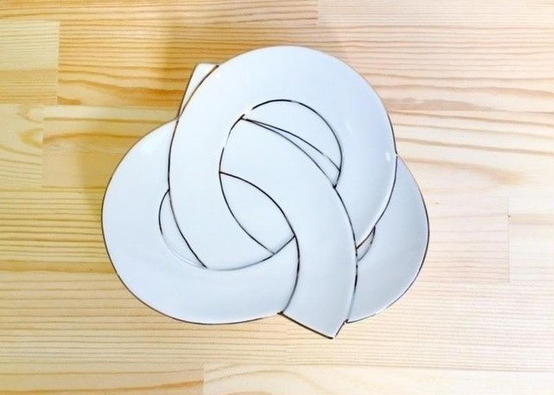 太白プラチナ線むすび銘々皿