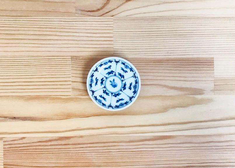 割草花兎紋姫皿