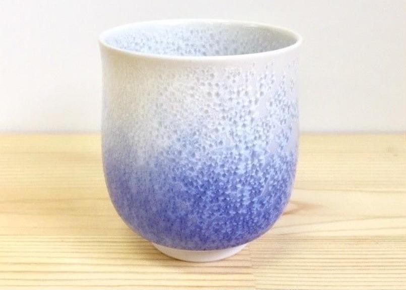 藍染水滴湯呑(大)