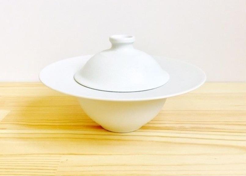 スノー銀蓋付きリム小鉢