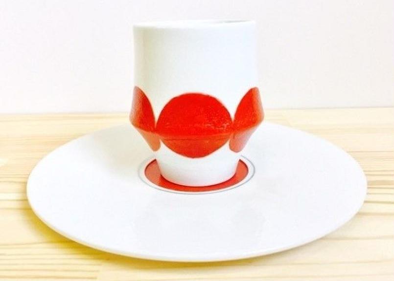 赤丸杵カップ&ソーサ