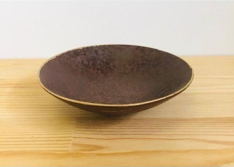 [陶器市] 南蛮渕金5寸平鉢