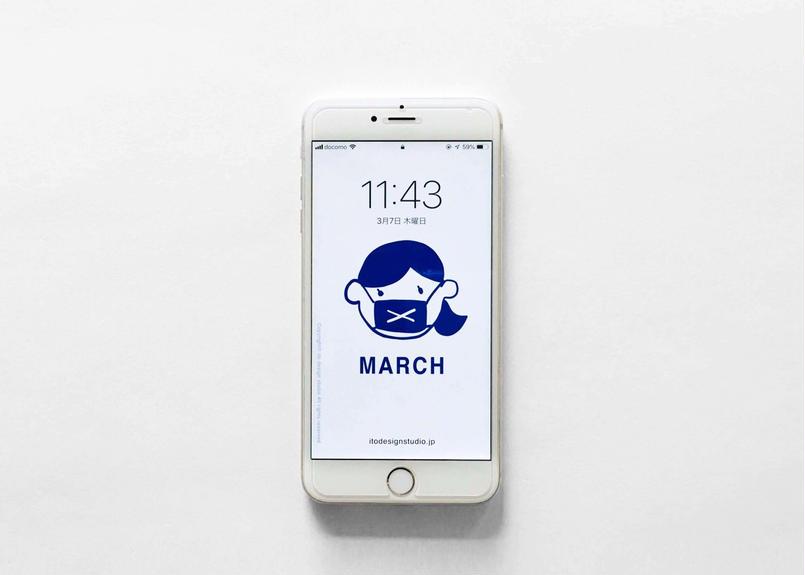 iPhone用壁紙 _ MARCH