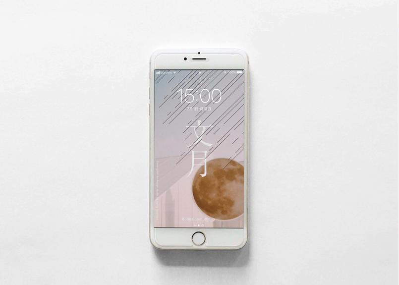 iPhone 用壁紙 _ JULY-月