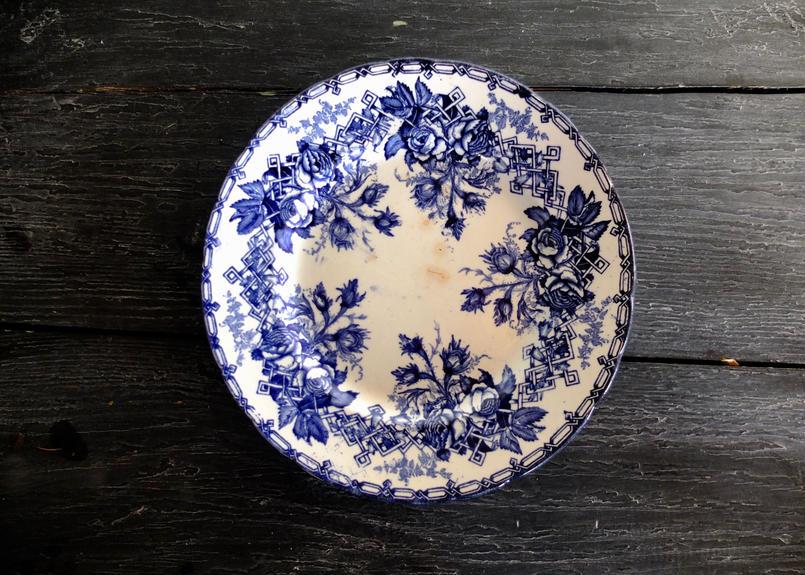 フランス製 クレイユ エ モントロー (Creil et Montereau) 花柄 プレート