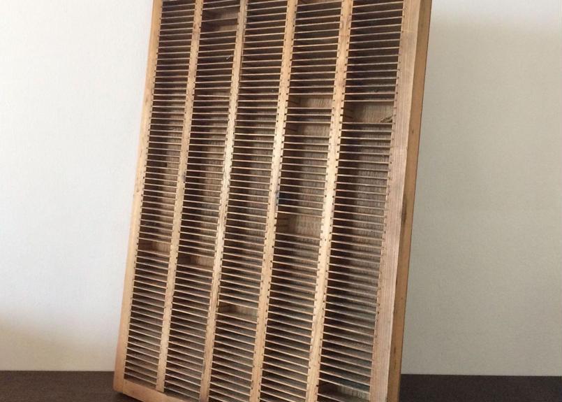活版印刷 印字 木製格子状ケース