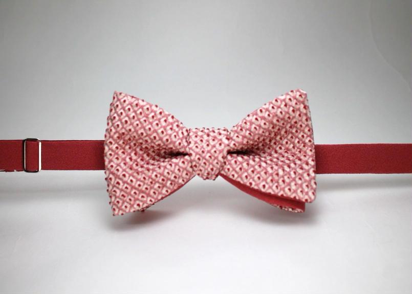 蝶ネクタイ KIMONO fabric 総絞り染 上京蝶帯 #366