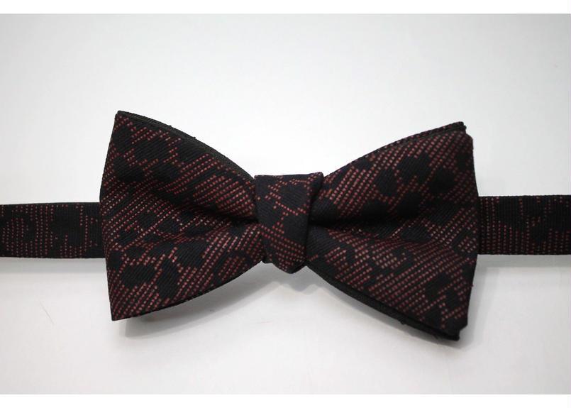 蝶ネクタイ KIMONO fabric 印傳加工 上京蝶帯 #331