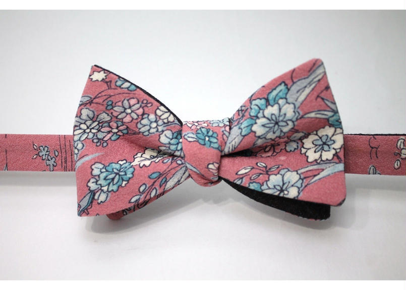 蝶ネクタイ KIMONO fabric 手描き友禅 上京蝶帯 #345
