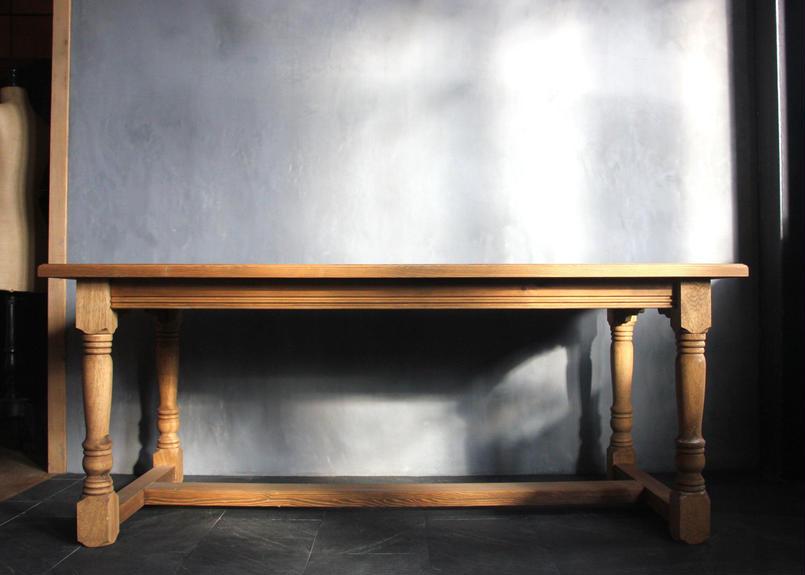 BLA:NC Oak original leg dining table
