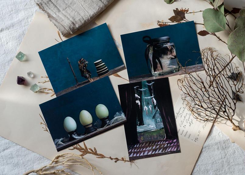 MIOMORI Post card SET -夜の標本-