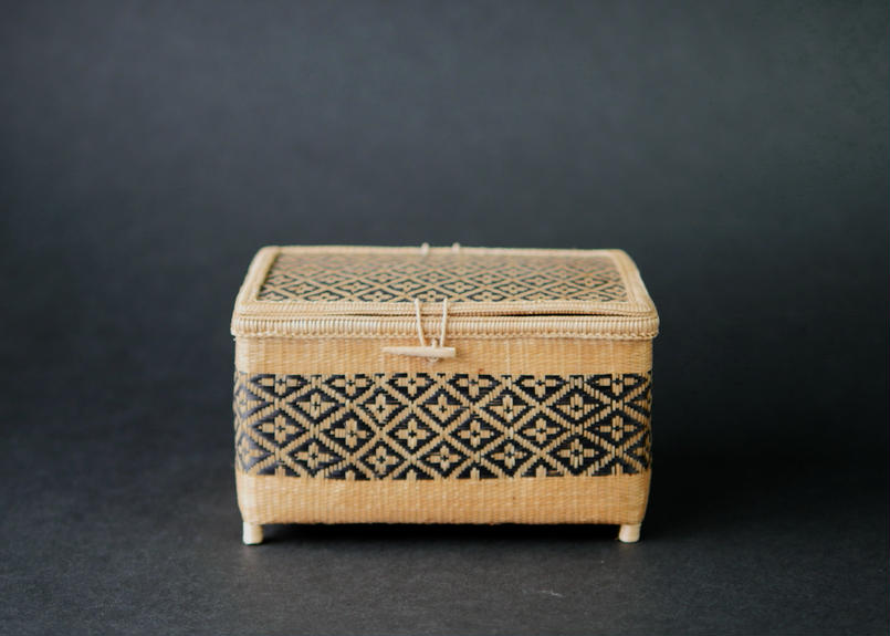 竹組角型花菱紋小籠  タイ東北部